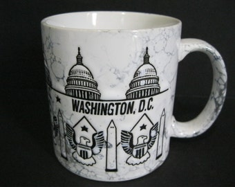 Washington DC Mug, Washington DC Souvenir Mug, Vintage Washington Mug