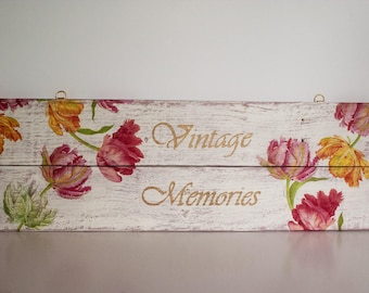 Palllet Art, Wall Hanging, Shabby Chic, Wall Sign, Distressed, Wood Sign
