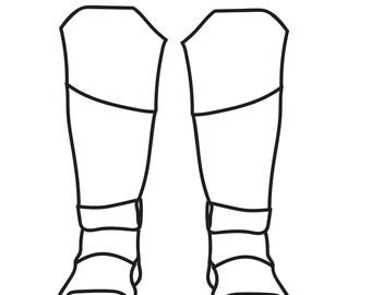 DIY Dawn of Justice inspired Batman boot Template