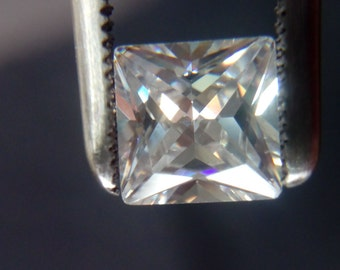 6mm x 6mm Square Princess Cut White Cubic Zirconia 5A Quality. Lot of 10 Stones