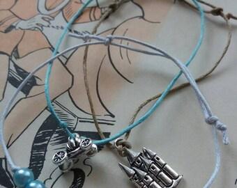 Glass slippers bracelet set