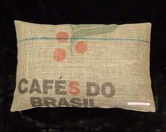 """Pillowcase original coffee bag cushion """"Brasil"""", 60 x 40 cm"""