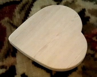 Thick Unfinished Wooden Heart, Wood Heart, Heart Shape, Unfinished Craft Shapes, Wood Craft Shapes, DIY Craft Shapes
