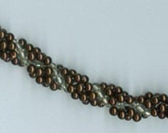 Handmade, Spiral Beaded Bracelet, Seed Beads