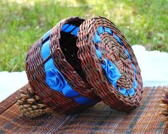 Basket Wicker woven basket Paper box Farmhouse rustic Gift Storage box Storage basket