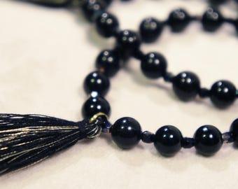 Genuine Black Tourmaline Bracelet Semi Precious Stone Gemstone Healing Crystal Chakra Metaphysical Gift