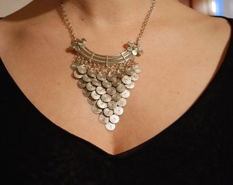 Filigree necklace and mesh Dragon scale