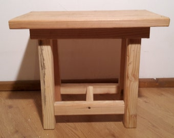 Fir wood stool