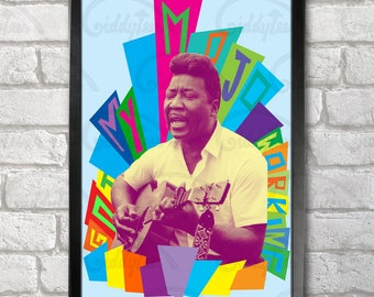 Muddy Waters Poster Print A3+ 13 x 19 in - 33 x 48 cm  Buy 2 get 1 FREE