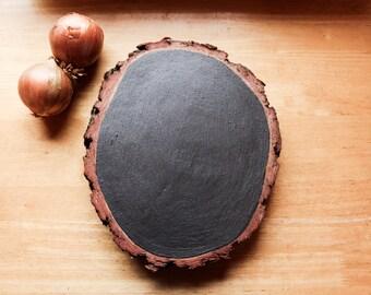 Wooden blackboard // Magnetic function // Black // Brown // rustical board