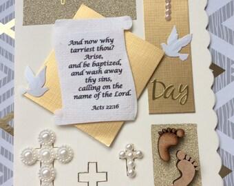 Handmade Baptism day card