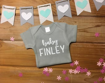 """Personalized """"baby *LAST NAME*"""". Gender Neutral. Baby Announcement"""