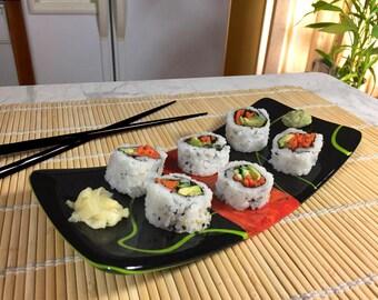 Tray - Fused glass - TERRA Sushi tray 02