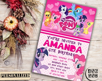 My Little Pony Invitation / My Little Pony Birthday Invitation / My Little Pony Party Invitation / My Little Pony Printable Invitation