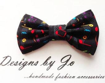Bow Tie,Mens Bow Tie, Suit Bowtie, Music Print Bow Tie,Prom Bow Tie, Wedding Bow Tie, Mens Fashion Accessories, Bowtie, Mens Bowtie  M650