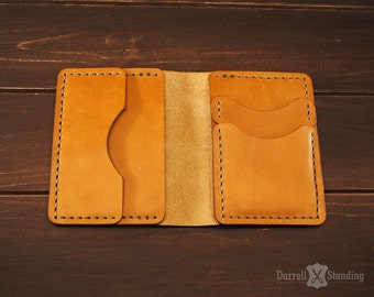 Leather card holder, slim wallet for cards CH001