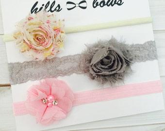 Baby Headband SET, Baby girl headbands, Baby Headbands, Newborn Headband, Baby Bows, Baby Girl, Baby Girl Headbands and Bows, Baby Hair Bows