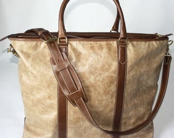 Leather Weekend Tote Bag