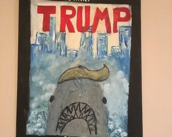 """Trump """"Jaws"""" Print"""
