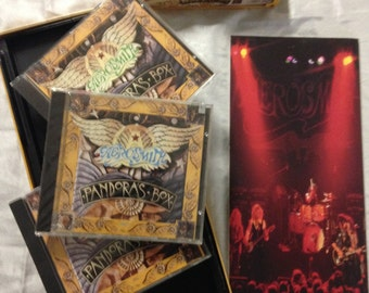 Aerosmith Pandora's Box CD Box Set Collectible Limited Edition FREE SHIPPING (domestic) original edition
