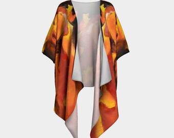 Kimono Jacket Boho Kimono Abstract Art Print Kimono Vest Gift For Her Birthday Gift Kimono Cardigan Gift For Mom Silk Kimono
