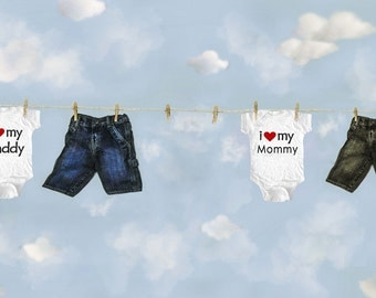 Baby Hanging with clothes