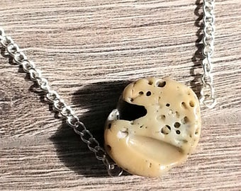 Natural Coral Stone Necklace--SALE 20% off