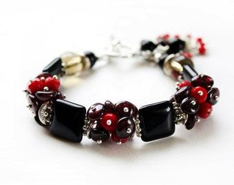 "A beautiful Bracelet ""Secret desires"", best for mom, black bracelet"