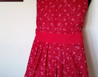 Reversible Red-Pink Heart Apron