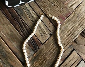 Freshwater Pearl Necklace with gold Baker Langley