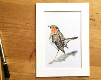 Robin // Bird Illustration // Art Print