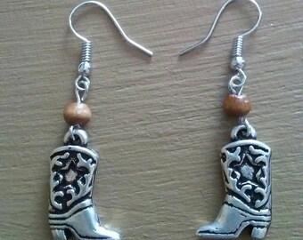Cowgirl Boot Earrings