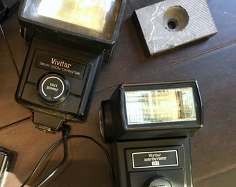 Vintage VIVITAR Automatic Electronic Flash Model 283 Auto Thyristor and Zoom Thyristor
