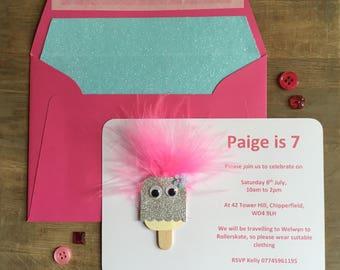 Pucker Pops Party Invitation