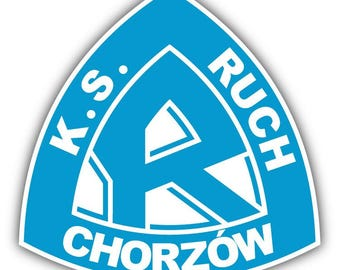 Ruch Chorzow FC Poland Soccer Football Car Bumper Sticker Decal 5'' x 5''