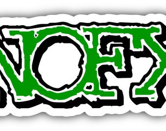 NOFX Car Bumper Sticker Decal 6'' x 3''