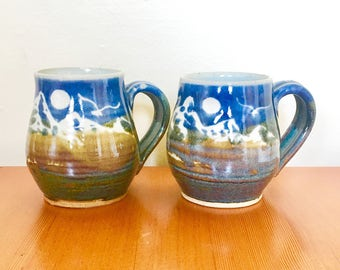 Pair of Clay Mugs
