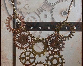 Necklace SteamPunk o1
