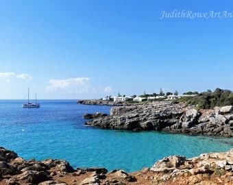 Seascape Photograph - Menorca Bay - Instant Download
