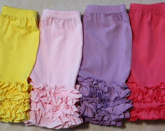 Girls Ruffle Shorts, Girls Shorts, Toddler Shorts, Ruffle Shorts, Icing Shorts, Shorties