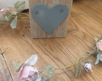 Wooden heart block