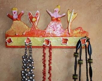 Playful jewelry bar, hook bar