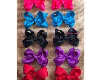 """Princess Hair Bow, 3"""", Classic, Solid Color, Little Girl, Toodler, Girls Hair Bow, Pigtail Hair Bow"""