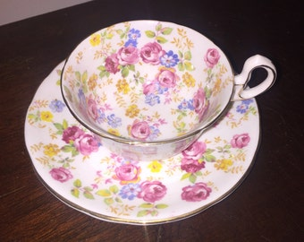 Royal Stafford vintage teacup and saucer Beautiful Roses