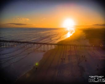 Sunset Beach Drone Aerial Photography