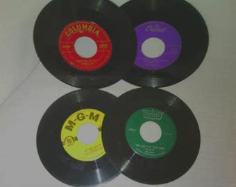 1950s Vinyl Records:Tommy Tucker/Bob Atcher/Laurie London/Peggy King