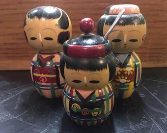 Japanese Doll Salt and Pepper Shaker