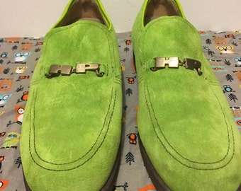ST. PATRICK'S SALE!! Men's Lime-green Loafers Size 10