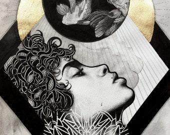 The Moon Print  A4