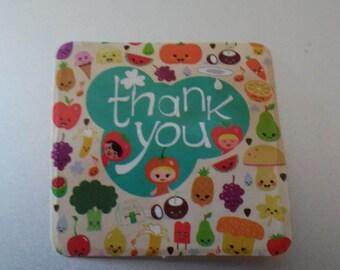 Asstd. Thank You & Happy Birthday Stickers